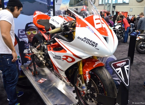 Triumph also sold about 40 Daytona 675R with the replica fairings if anyone was interested in looking like Danny Eslick!